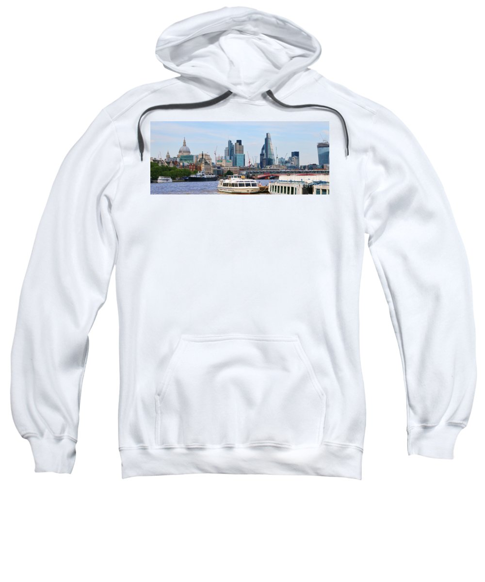 London Sweatshirt featuring the photograph London Old And New 5838 by Jack Schultz