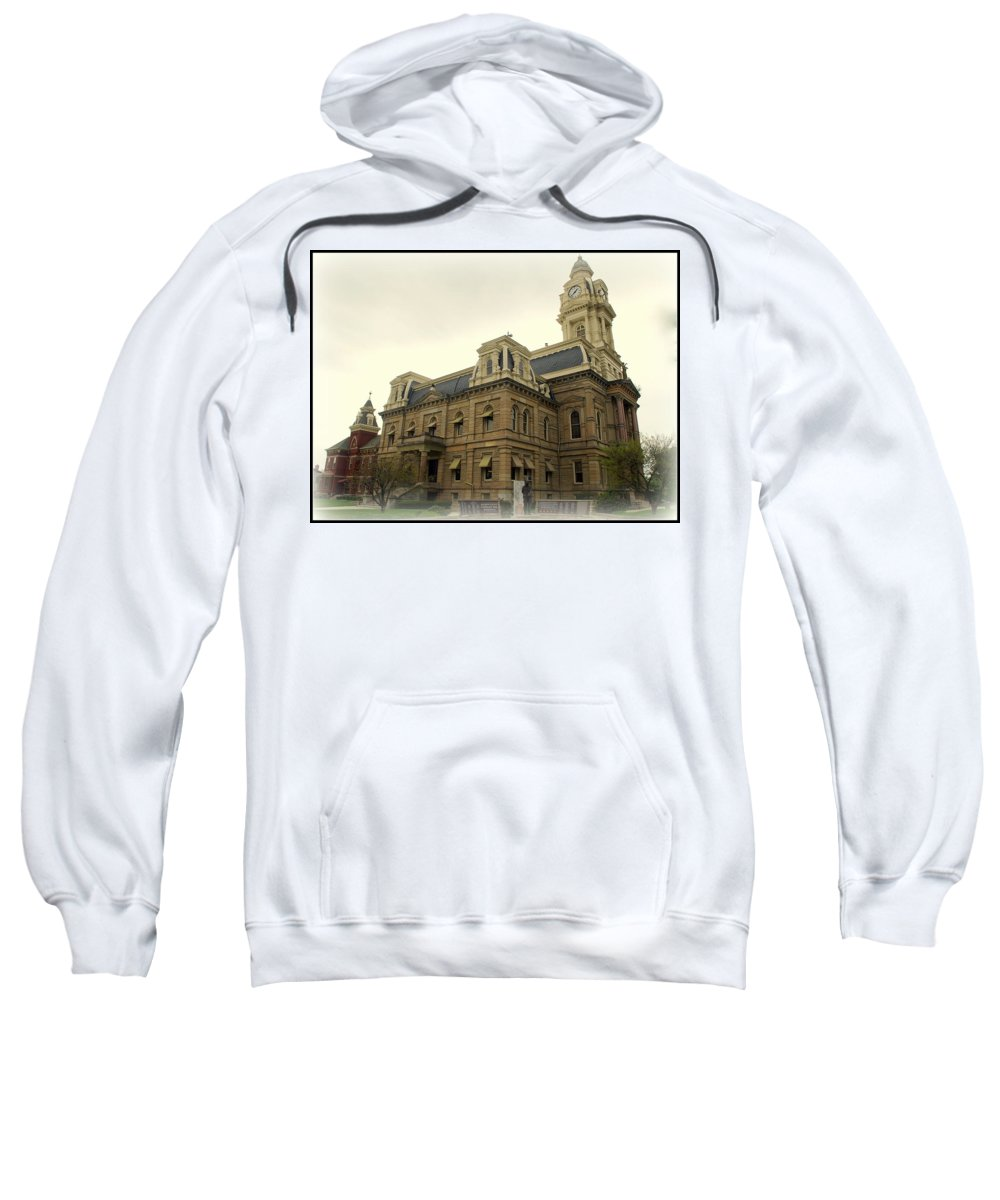 Court House Sweatshirt featuring the photograph Madison County Ohio by Scott Polley