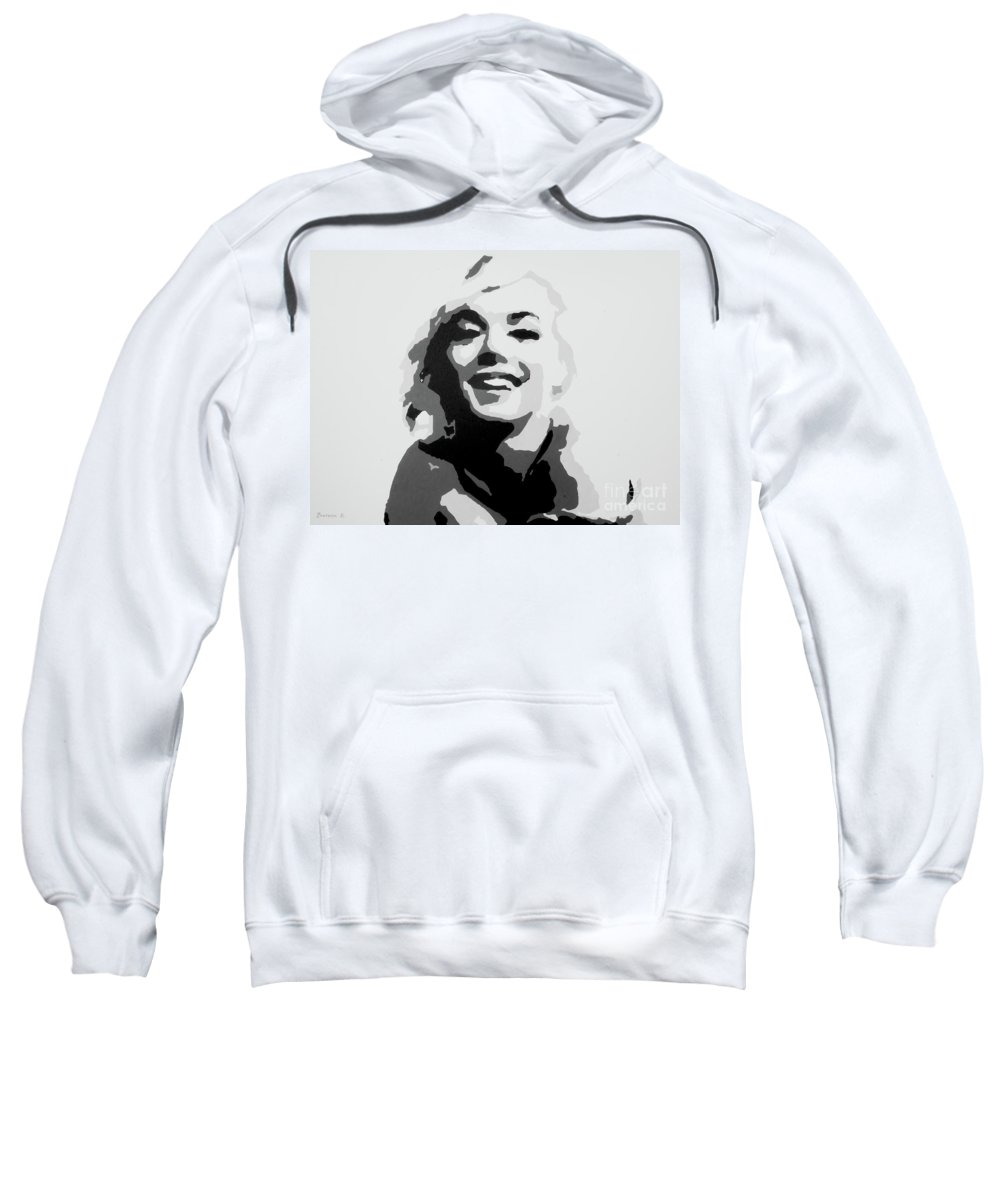 Marilyn Monroe Sweatshirt featuring the painting Marilyn Monroe by Katharina Filus