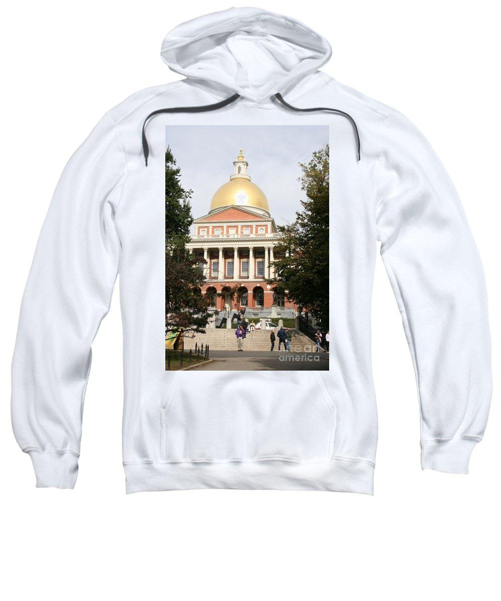 Boston Sweatshirt featuring the photograph Massachusetts State House - Boston by Christiane Schulze Art And Photography