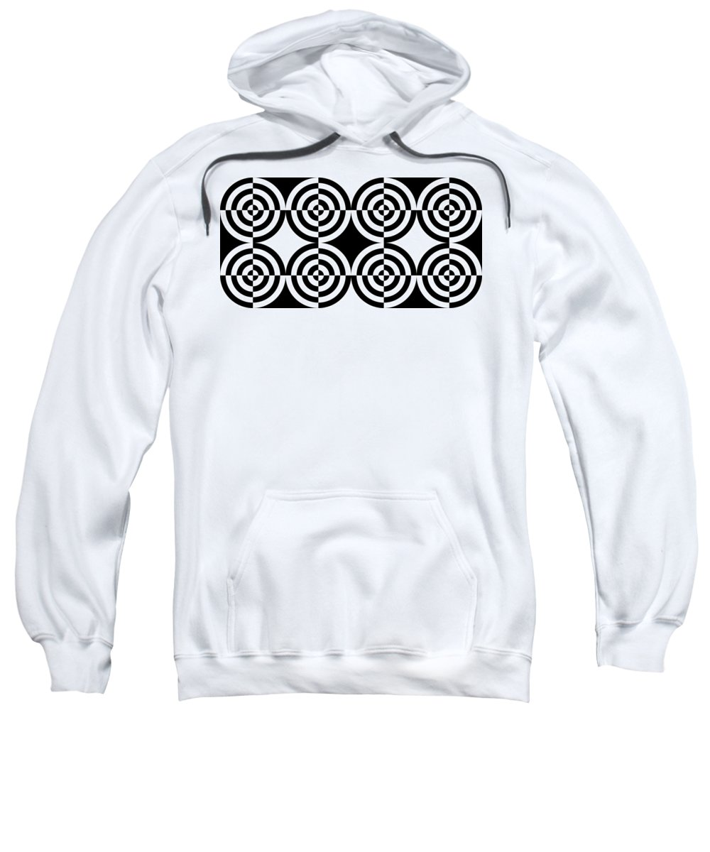 Abstract Sweatshirt featuring the digital art Mind Games 5 by Mike McGlothlen
