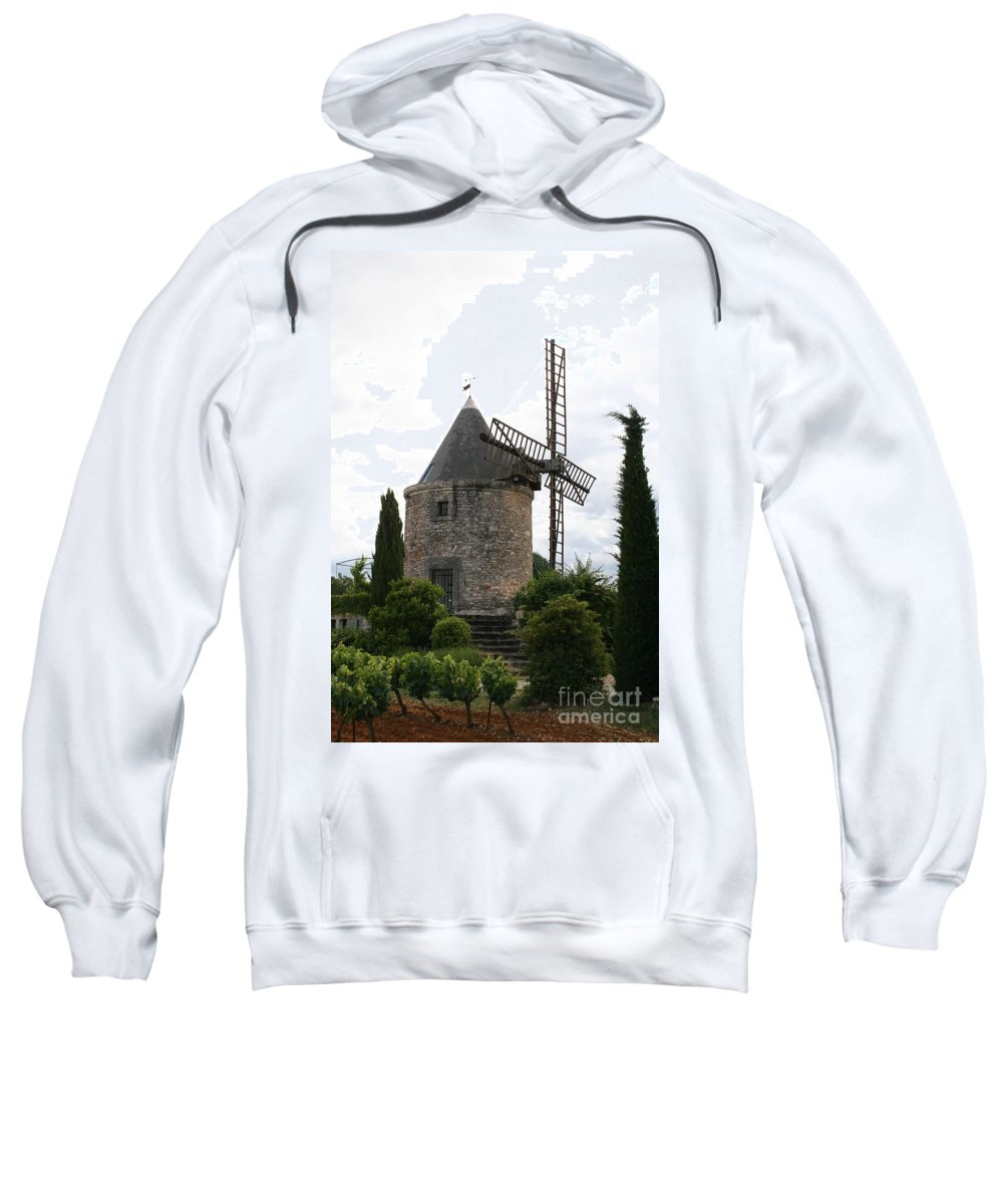Mill Sweatshirt featuring the photograph Old Provencal Windmill by Christiane Schulze Art And Photography