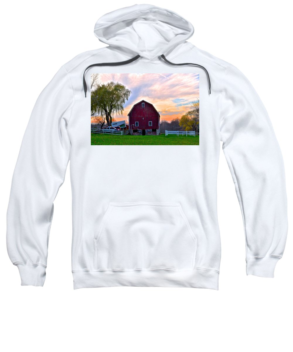 Painted Sweatshirt featuring the photograph Painted Sky by Frozen in Time Fine Art Photography