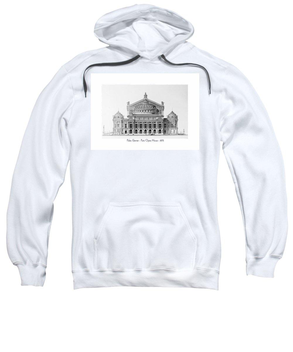 Paris Sweatshirt featuring the digital art Paris Opera - 1875 by John Madison