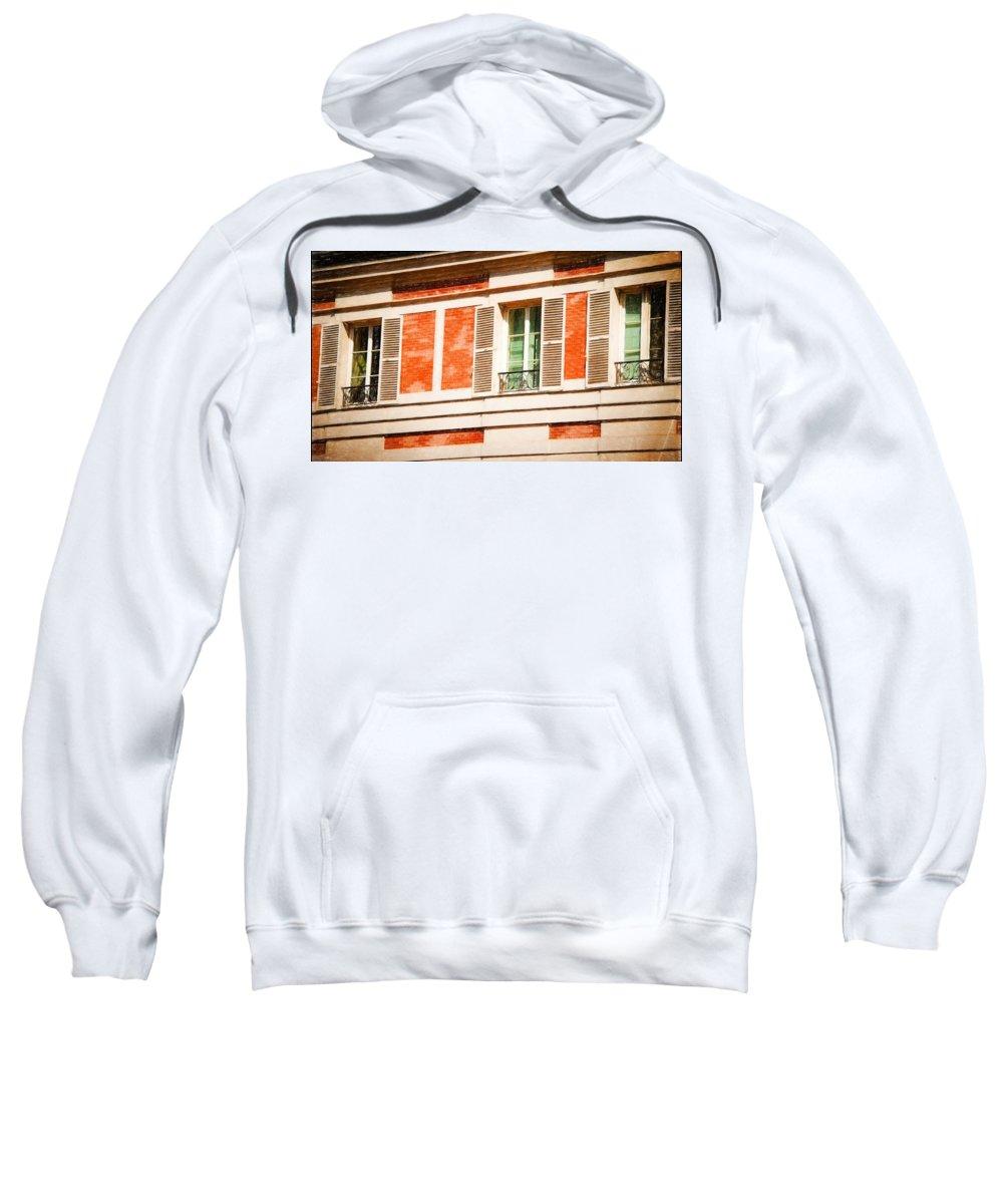 Paris Sweatshirt featuring the photograph Paris Windows by Bill Howard