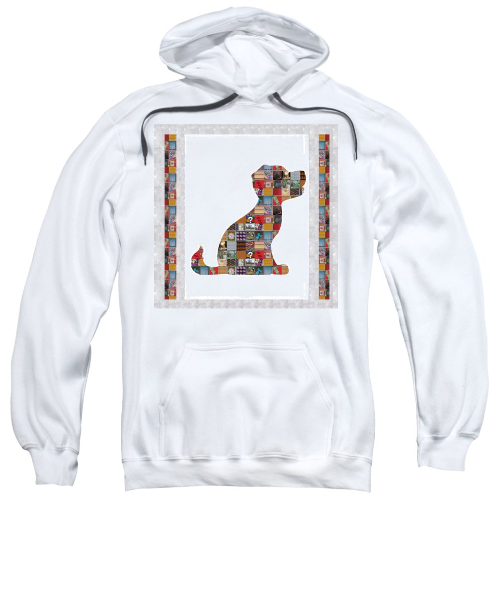 Puppy Sweatshirt featuring the painting Puppy Dog Showcasing Navinjoshi Gallery Art Icons Buy Faa Products Or Download For Self Printing Na by Navin Joshi