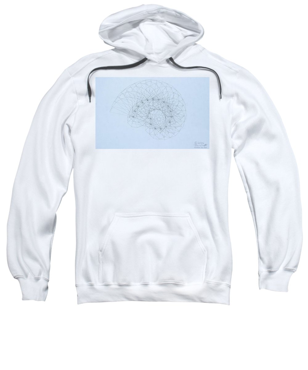 Jason Padgett Sweatshirt featuring the drawing Quantum Nautilus by Jason Padgett