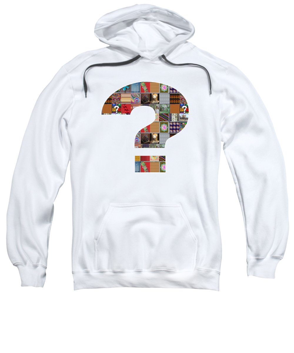 Question Sweatshirt featuring the painting Question Symbol Showcasing Navinjoshi Gallery Art Icons Buy Faa Products Or Download For Self Printi by Navin Joshi