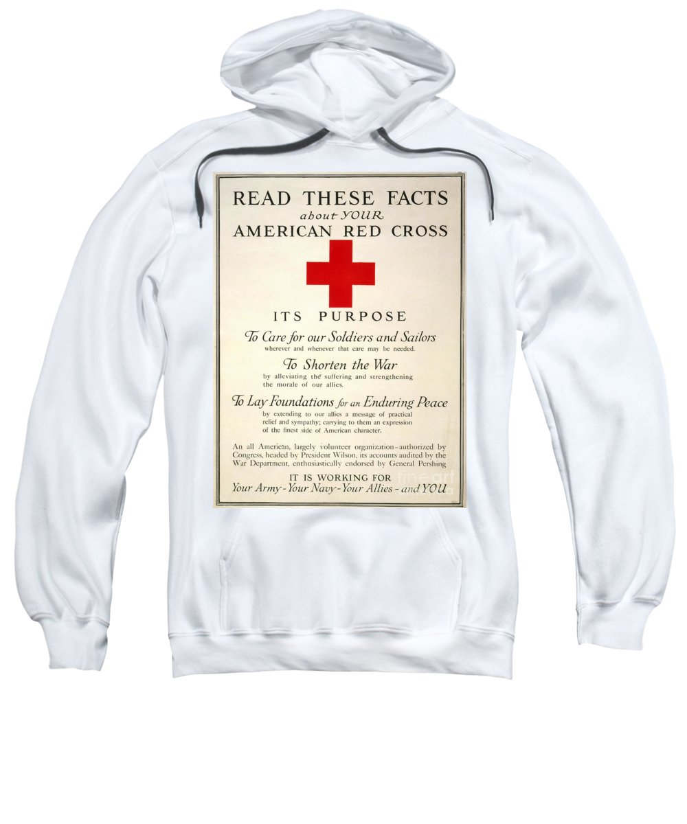 1917 Sweatshirt featuring the photograph Red Cross Poster, 1917 by Granger
