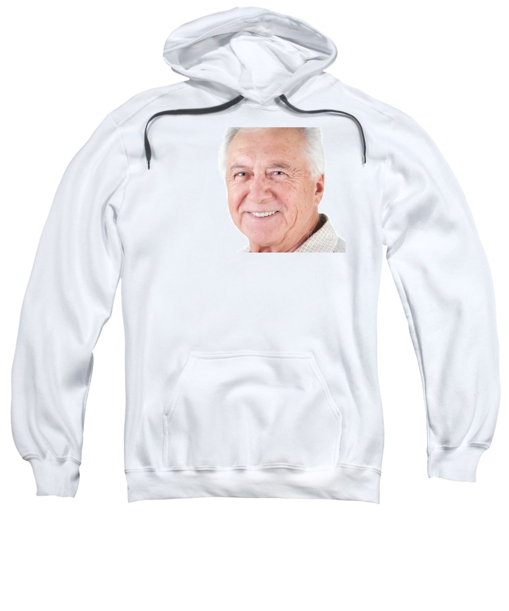 Adult Sweatshirt featuring the photograph Senior Citizen Man by Gunter Nezhoda