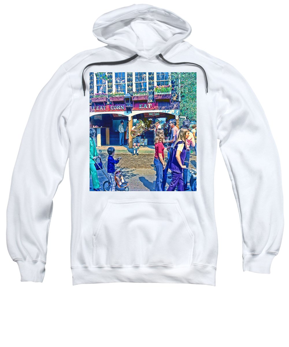 Street Scene Sweatshirt featuring the photograph Street Scene by Cathy Anderson