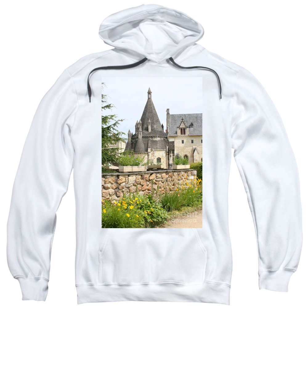 Kitchen Sweatshirt featuring the photograph The Kitchenbuilding Of Abbey Fontevraud by Christiane Schulze Art And Photography
