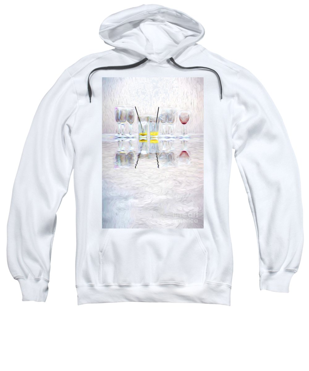 Abstract Sweatshirt featuring the photograph The lonely red by Sheila Smart Fine Art Photography