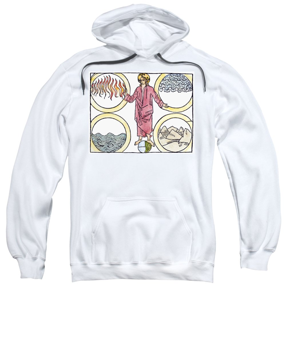 1487 Sweatshirt featuring the painting The World Soul, 1487 by Granger