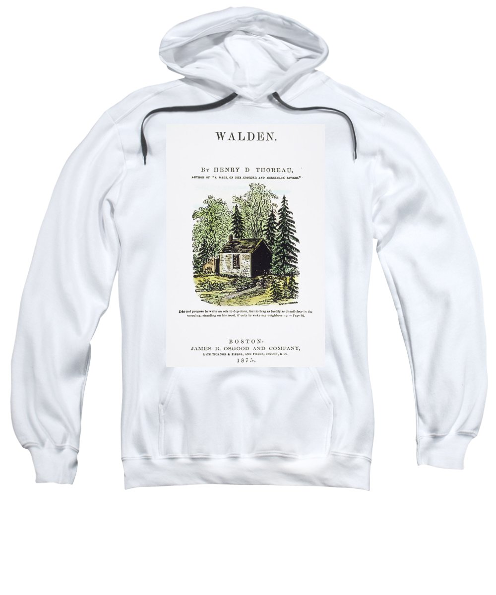 1875 Sweatshirt featuring the painting Thoreau Walden, 1875 by Granger