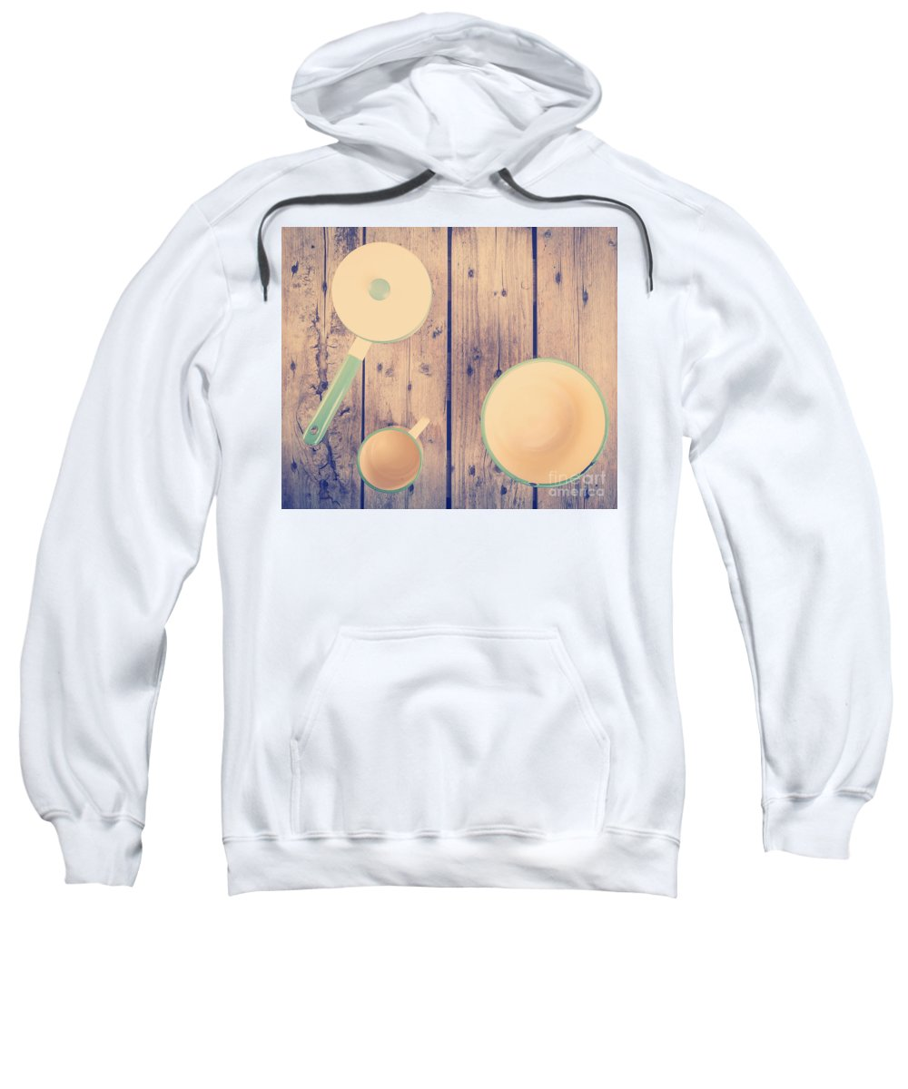 Plate Sweatshirt featuring the photograph Vintage Kitchen Filtered by Tim Hester