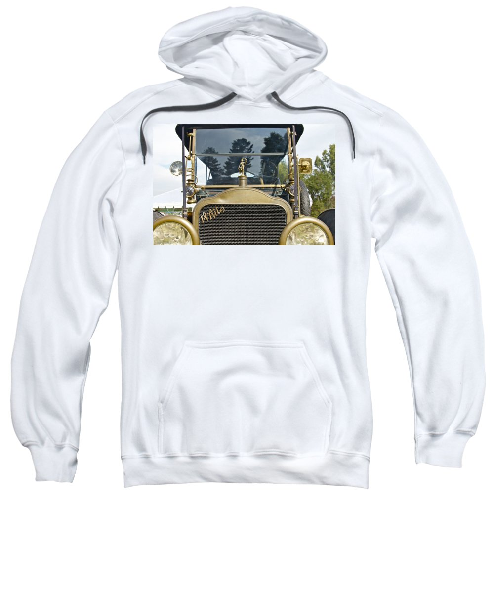 Antique Sweatshirt featuring the photograph White Motors by Jack R Perry