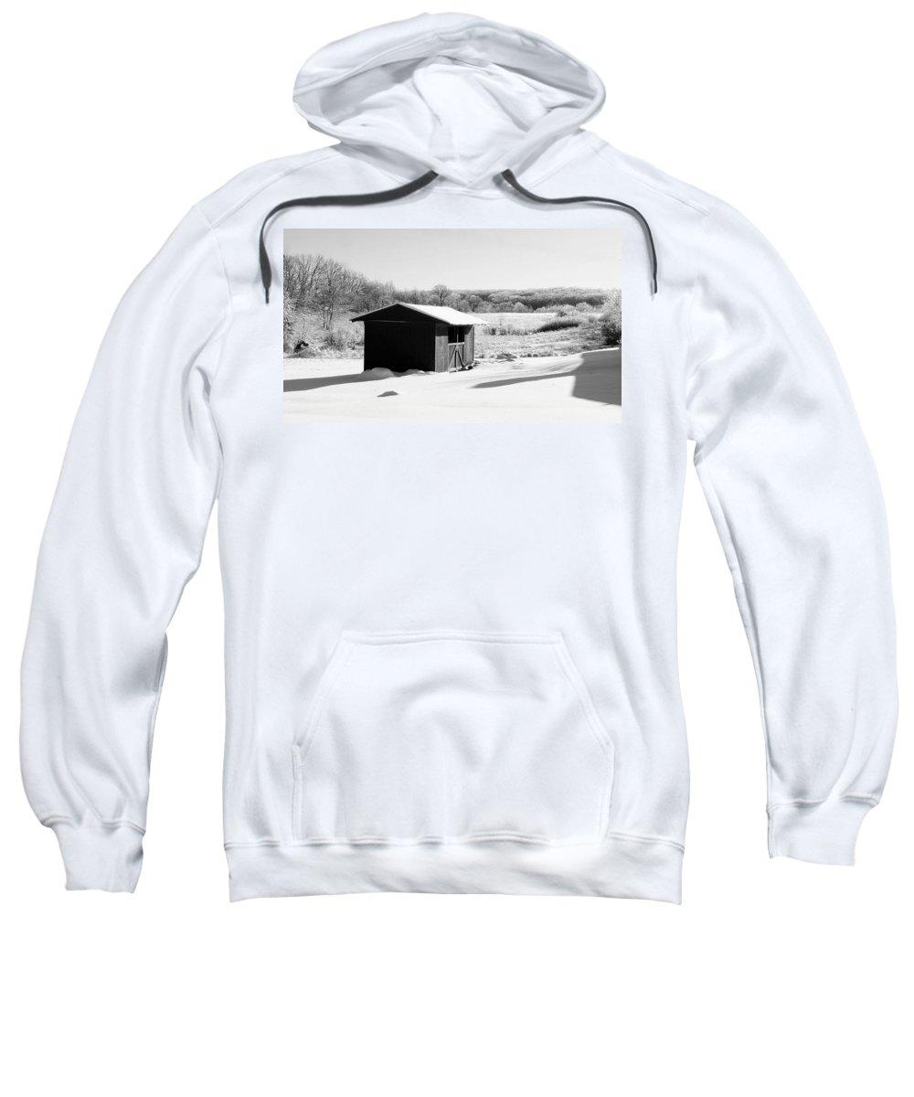 Winter Sweatshirt featuring the photograph Winter Wonderland by Frozen in Time Fine Art Photography