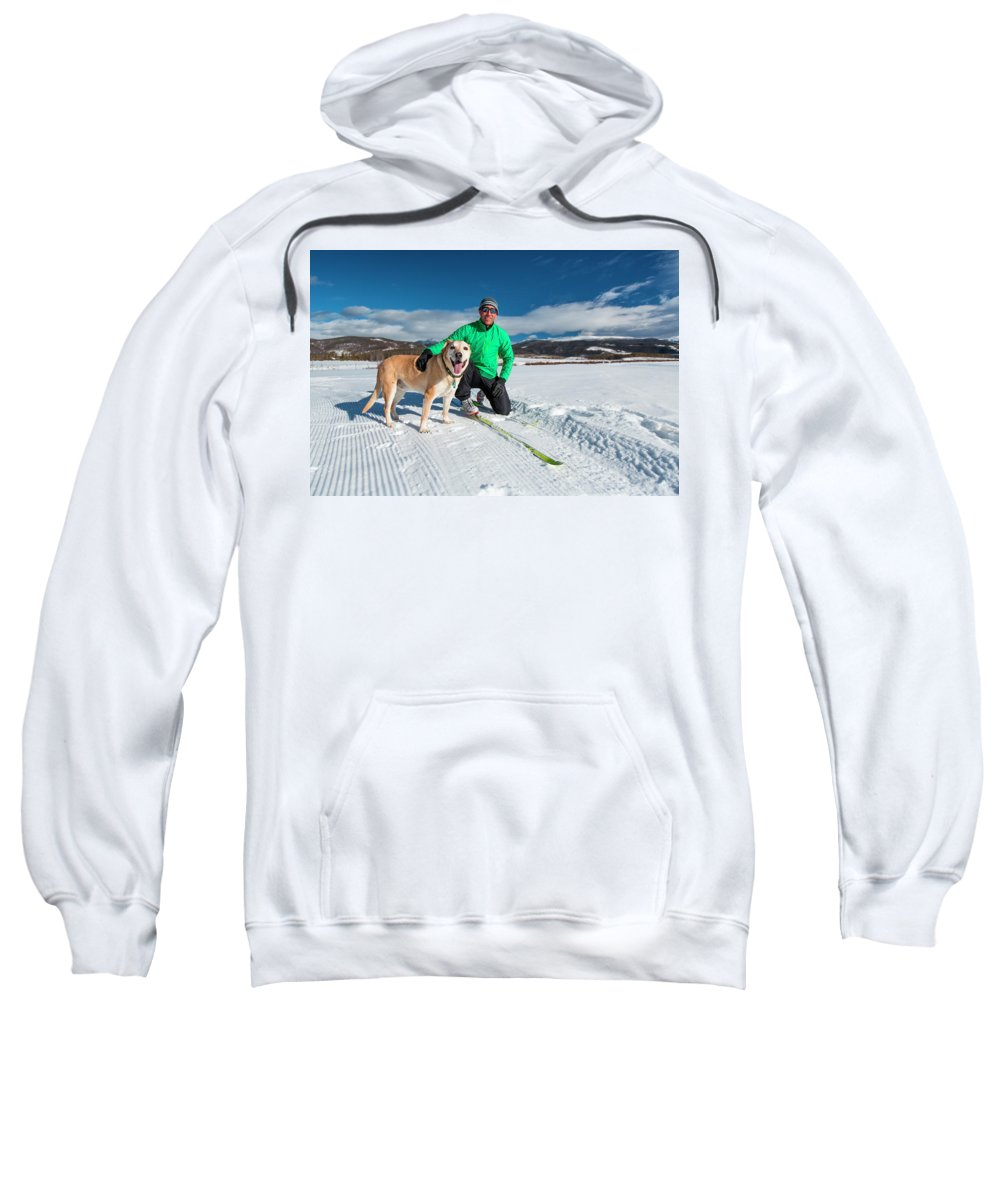 35-39 Years Sweatshirt featuring the photograph Colorado Cross Country Skiing by Sam Wells