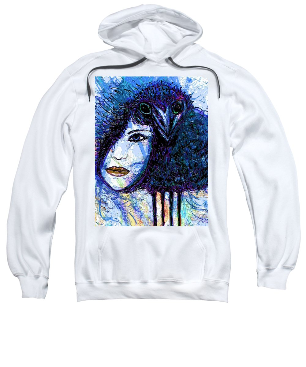 Vintage Hair Comb Sweatshirt featuring the mixed media Vintage Hair Comb by Natalie Holland