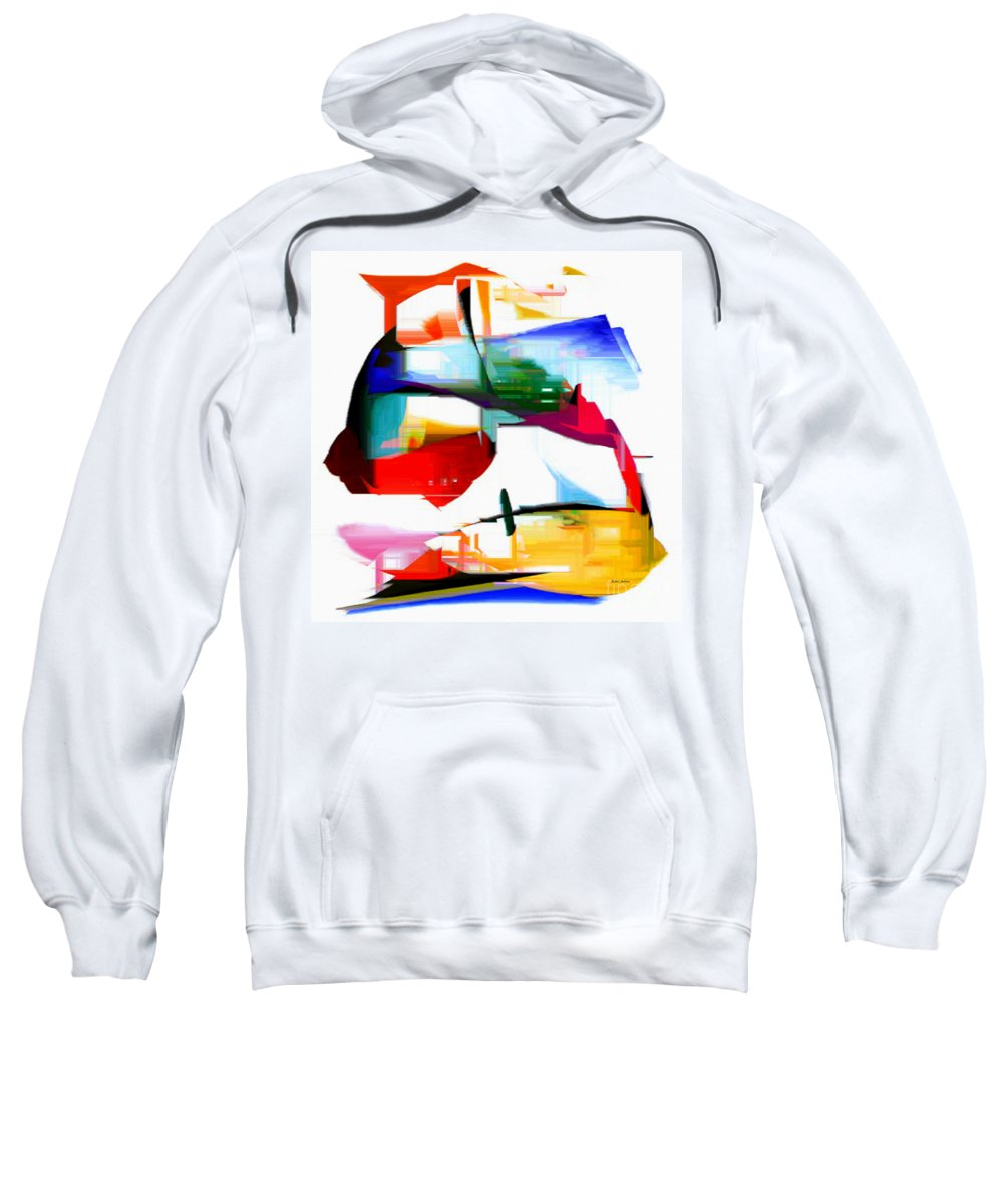 Abstract Sweatshirt featuring the digital art Abstract Series Iv by Rafael Salazar