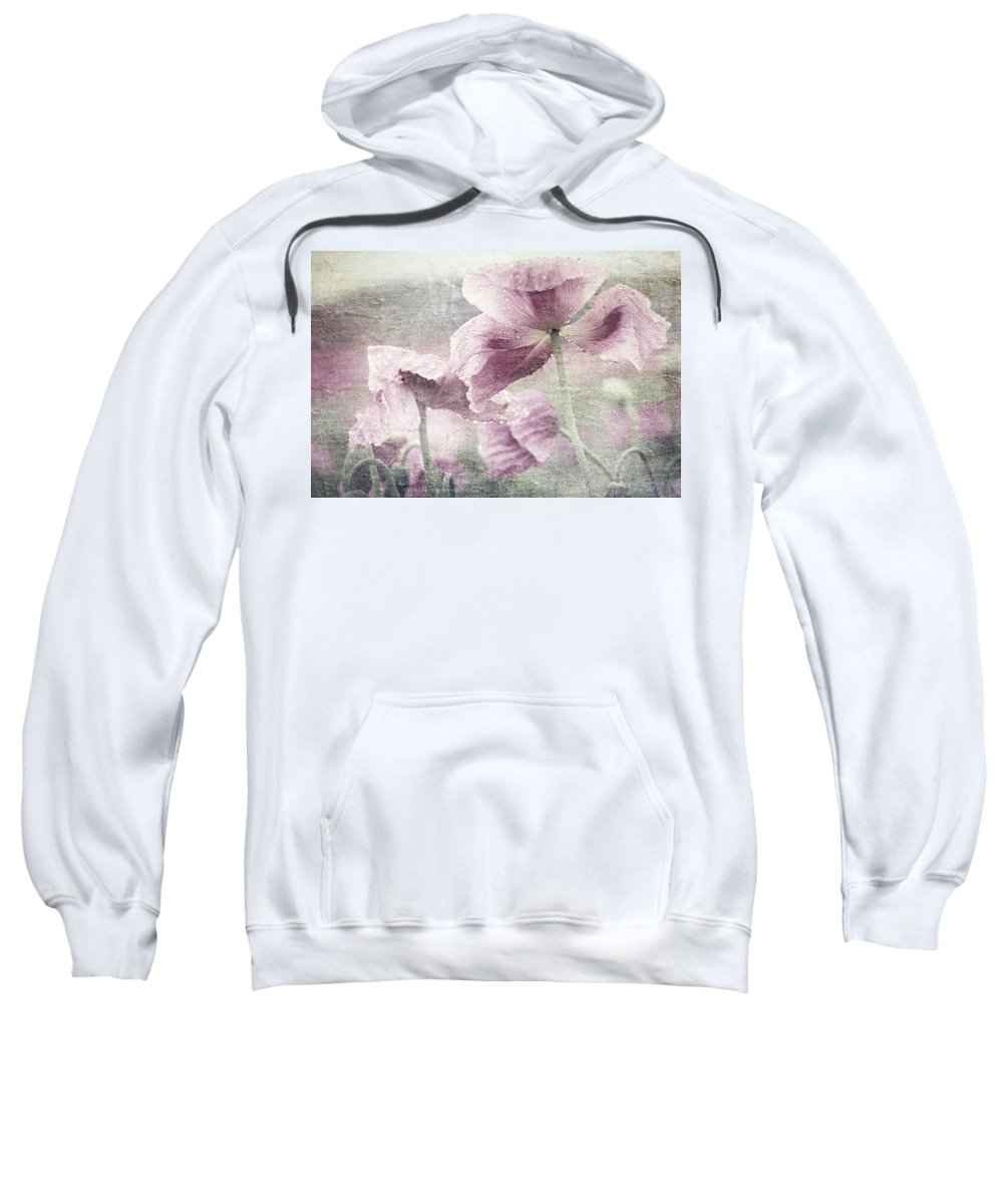 Poppy Sweatshirt featuring the mixed media Poppy by Heike Hultsch