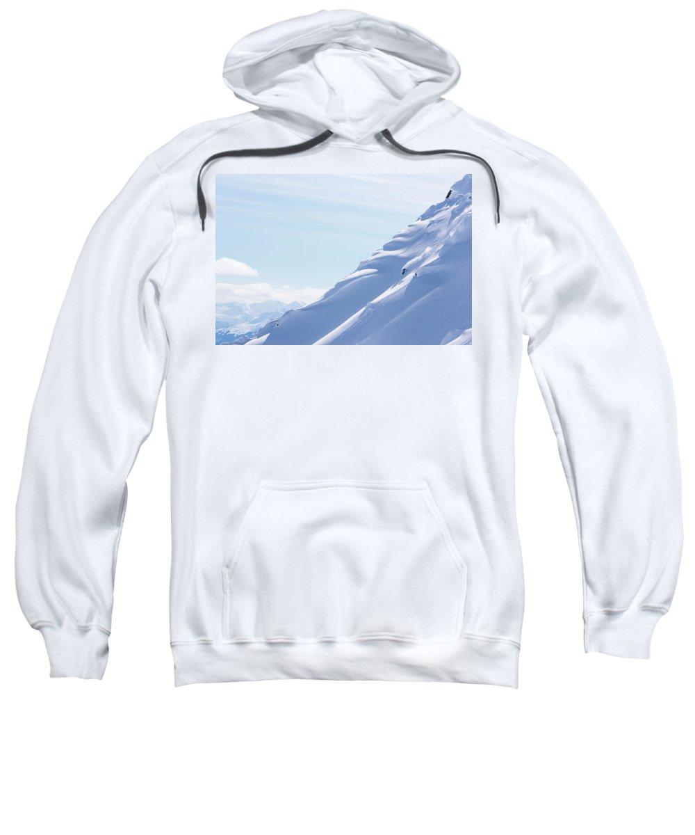 Winter Sport Sweatshirt featuring the photograph Backcountry Snowboarder by Ben Girardi