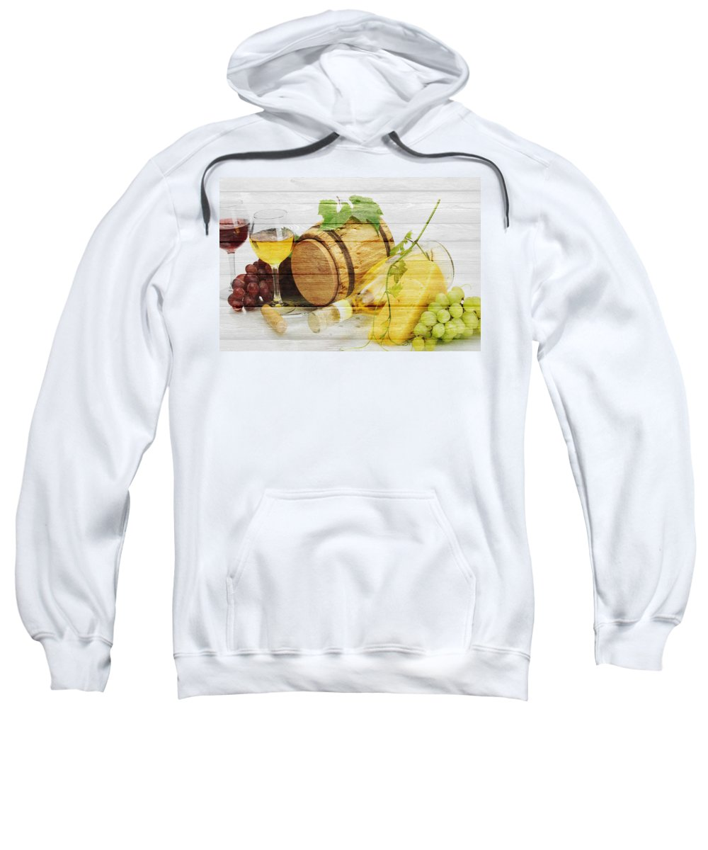 Wine Sweatshirt featuring the photograph Wine by Joe Hamilton