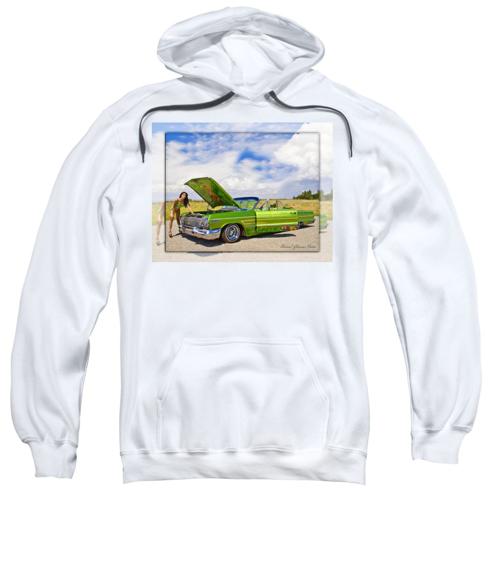 Chevrolet Impala Sweatshirt featuring the photograph Lowrider by Walter Herrit