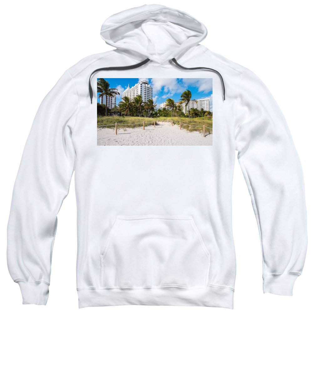 Architecture Sweatshirt featuring the photograph Miami Beach by Raul Rodriguez