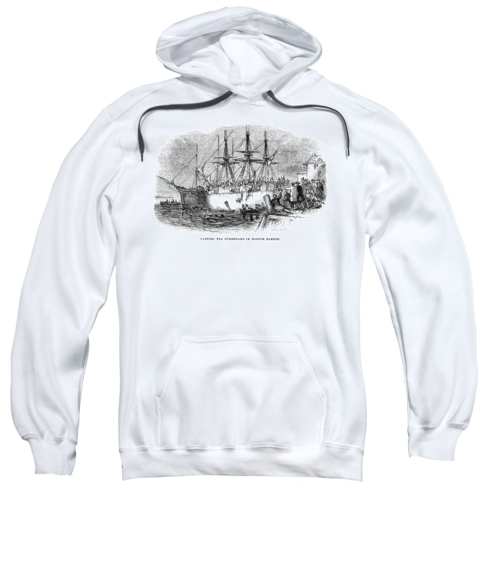 1773 Sweatshirt featuring the photograph Boston Tea Party, 1773 by Granger