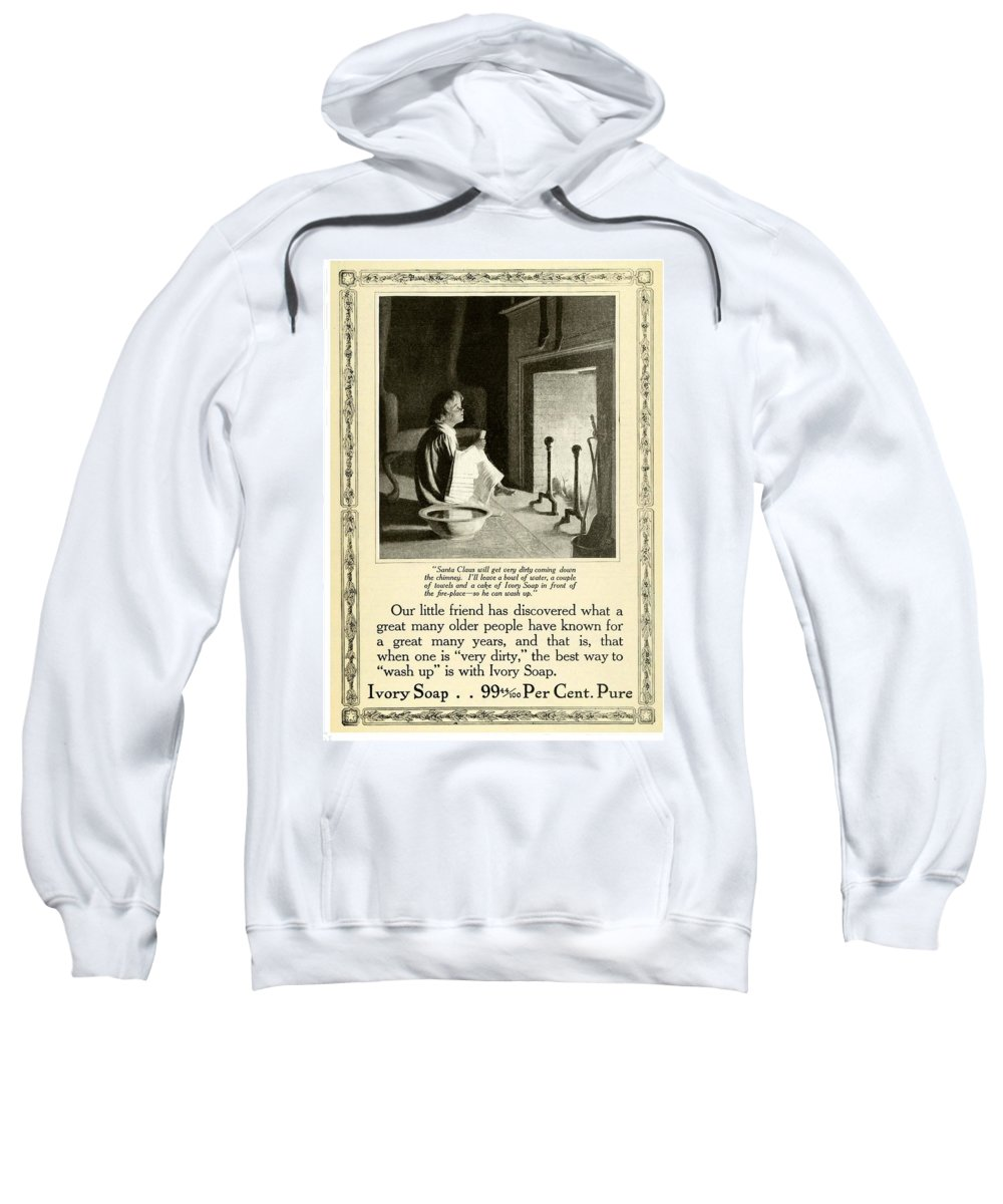 1910 Sweatshirt featuring the digital art 1910 - Ivory Soap Christmas Proctor And Gamble Advertisement by John Madison
