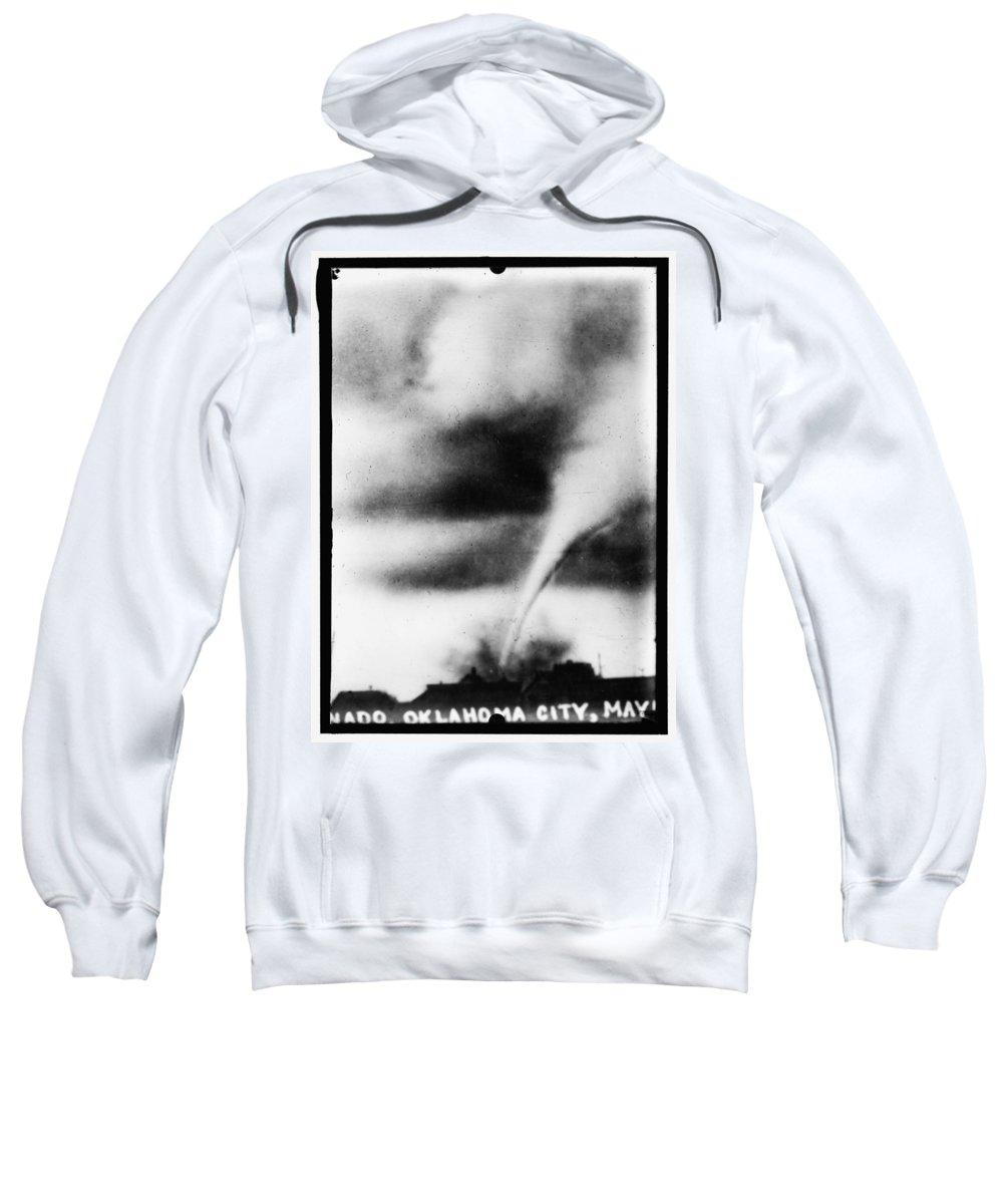 1913 Sweatshirt featuring the photograph 1913 Oklahoma City Tornado by Bill Cannon