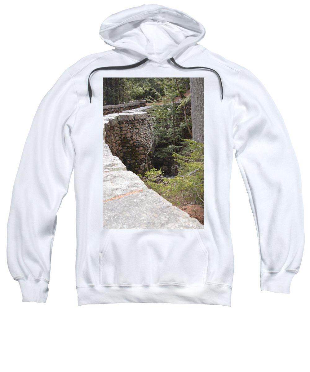 Jordan Pond Sweatshirt featuring the photograph 1917 Carriage Road Bridge Jordan Stream Acadia Maine by Lena Hatch