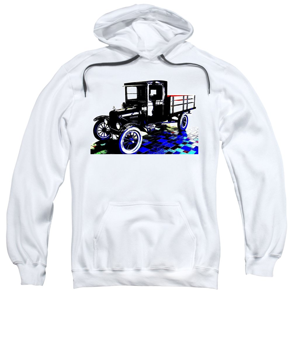 1926 Ford Model T Stakebed Sweatshirt featuring the digital art 1926 Ford Model T Stakebed by Will Borden