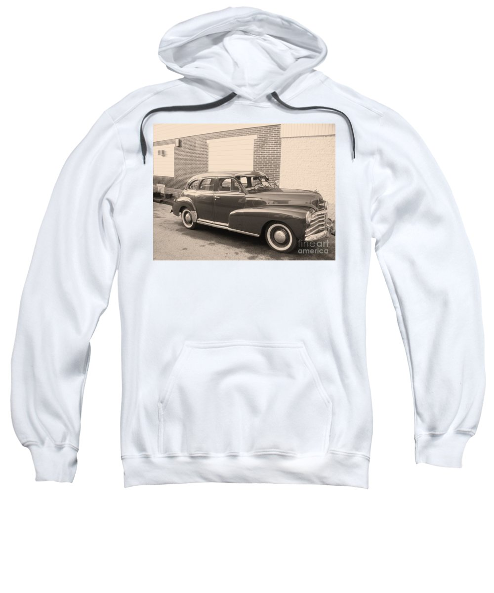 Chevy Sweatshirt featuring the photograph 1948 Chevy by Eric Schiabor