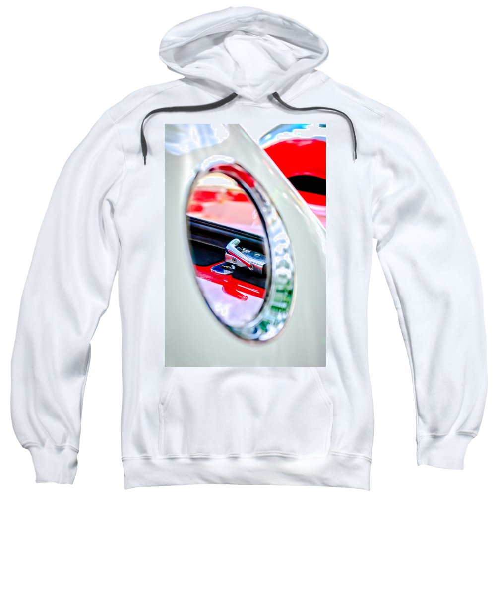 1956 Ford Thunderbird Latch Sweatshirt featuring the photograph 1956 Ford Thunderbird Latch -417c by Jill Reger