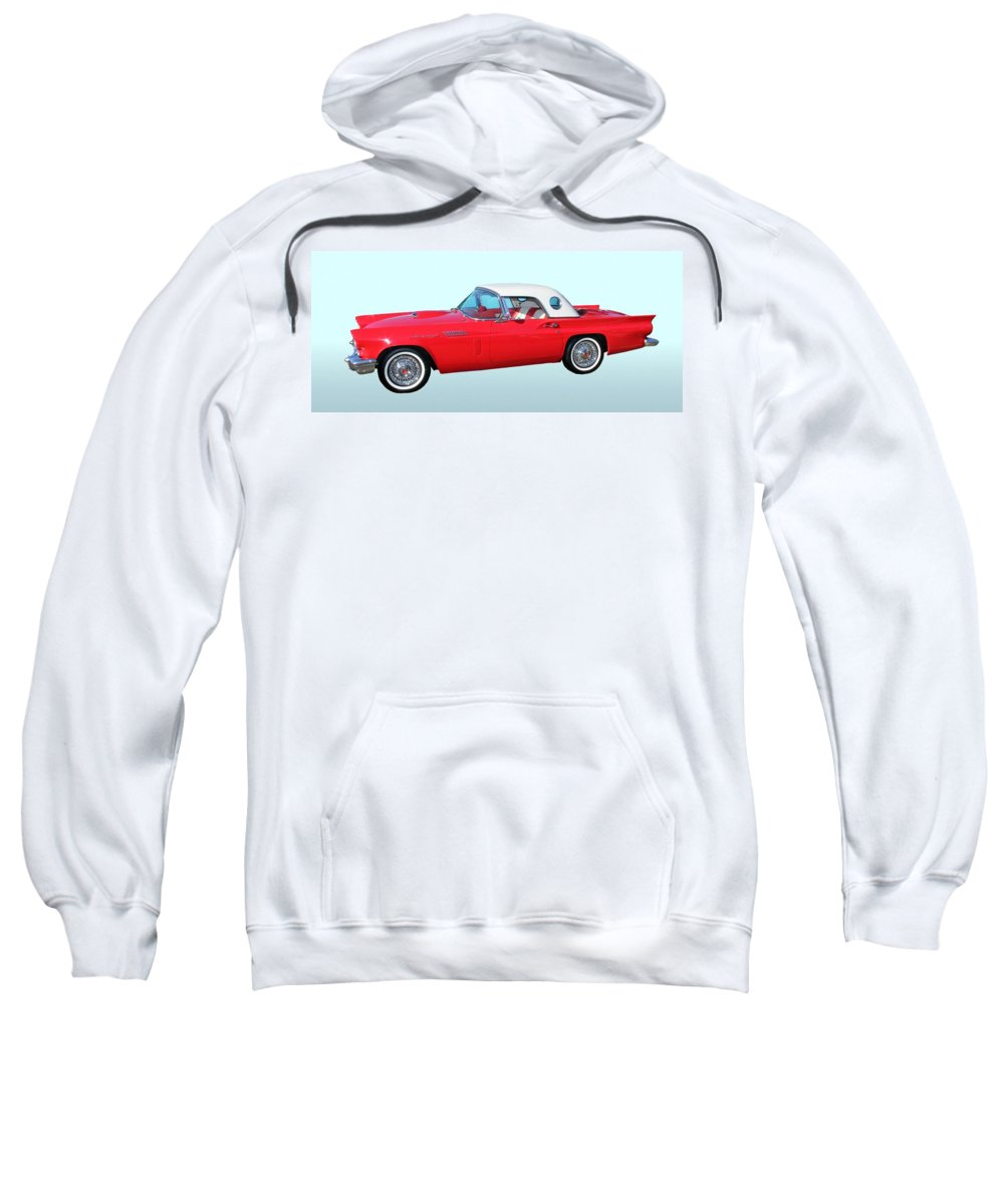 1957 Ford Thunderbird Sweatshirt featuring the photograph 1957 Ford Thunderbird by Aaron Berg