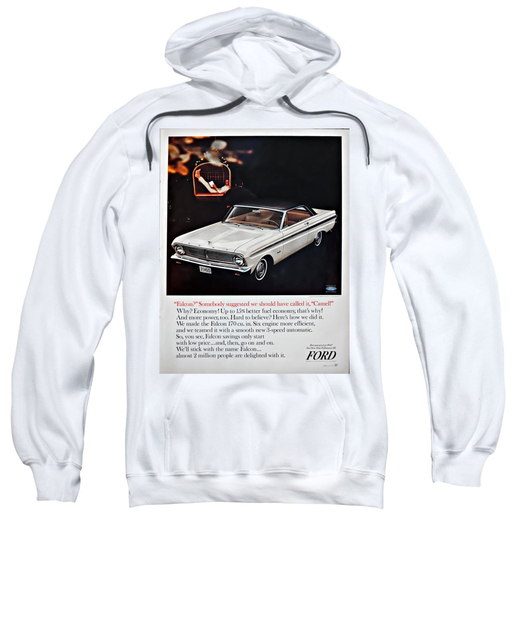 1965 Ford Falcon Ad Sweatshirt featuring the photograph 1965 Ford Falcon Ad by Steve Harrington