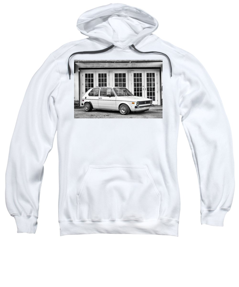 Vw Sweatshirt featuring the photograph 1979 Vw Rabbit IIi by Scott Wyatt