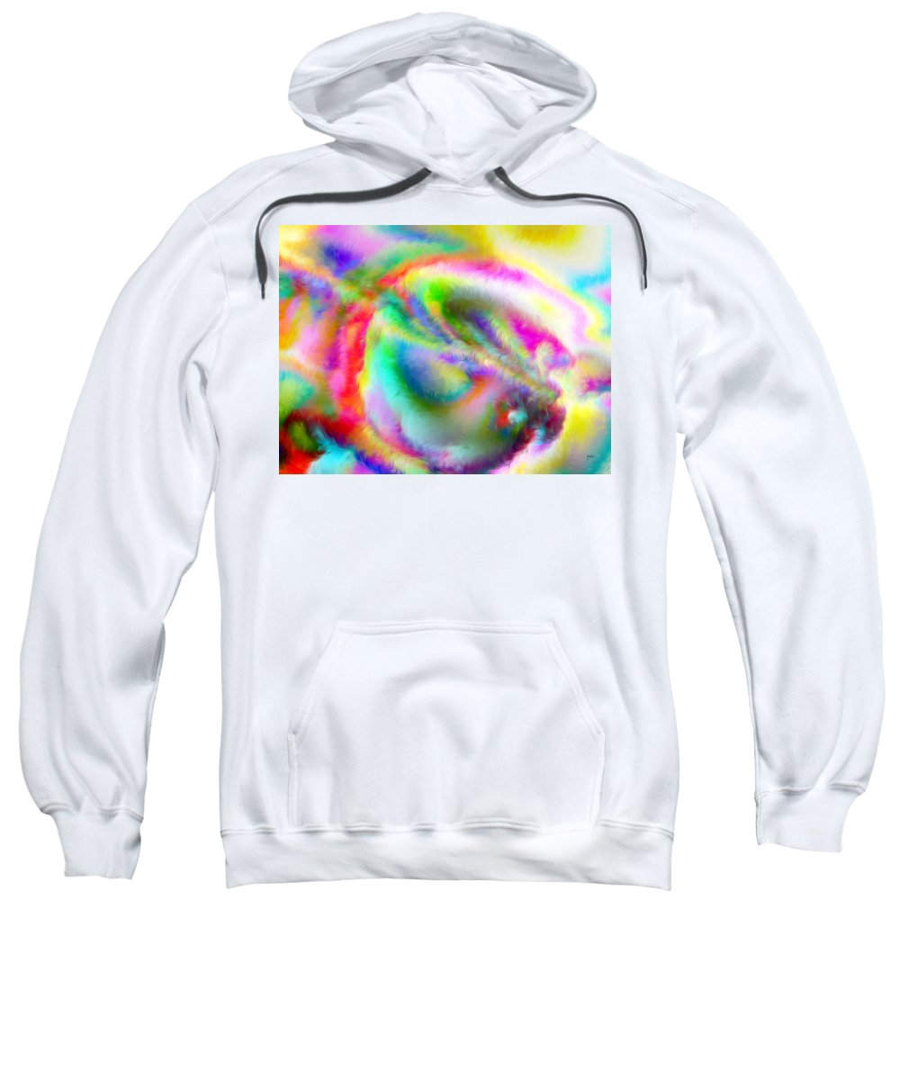 Sweatshirt featuring the digital art 1997031 by Studio Pixelskizm