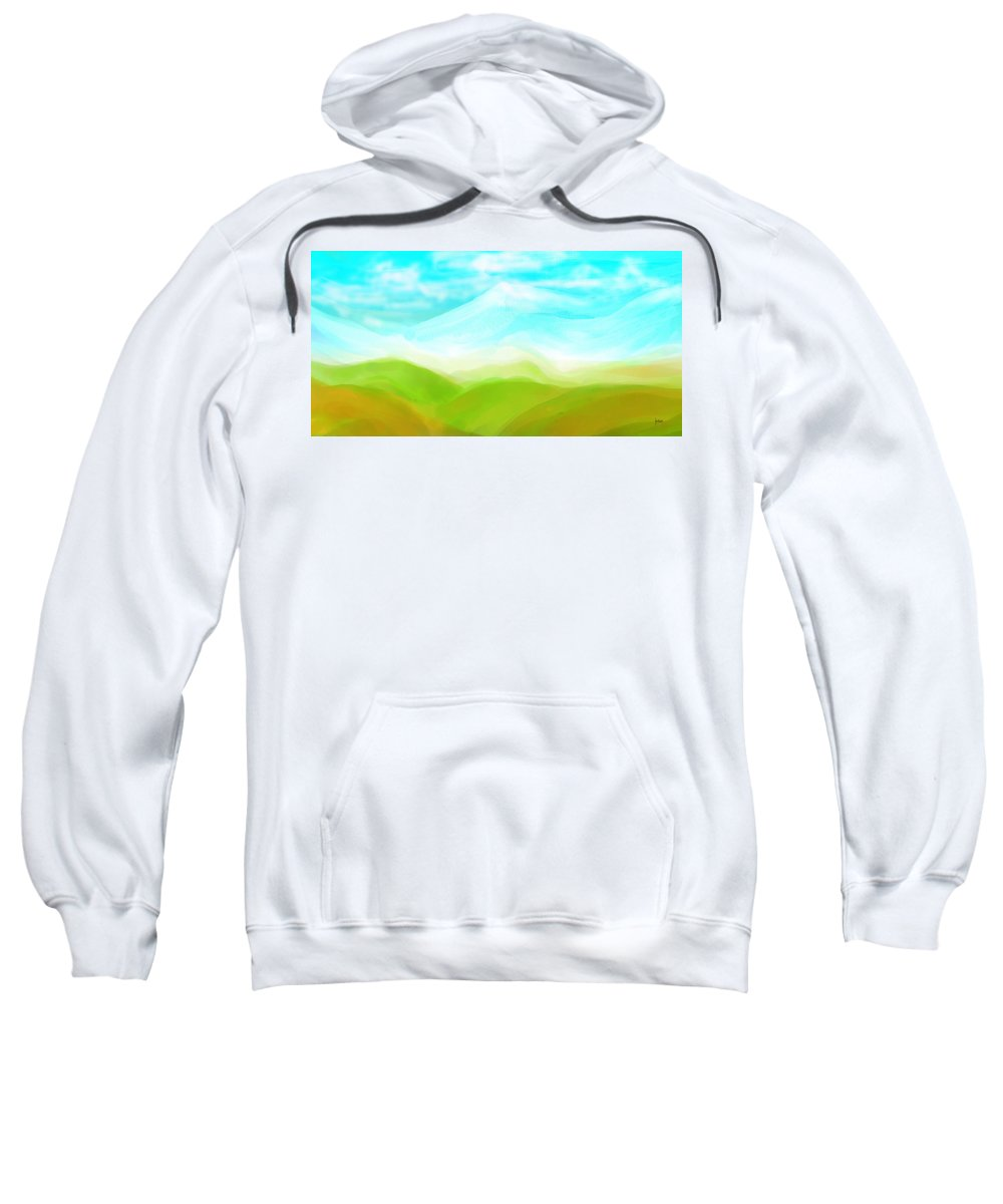 Sweatshirt featuring the digital art 1998046 by Studio Pixelskizm
