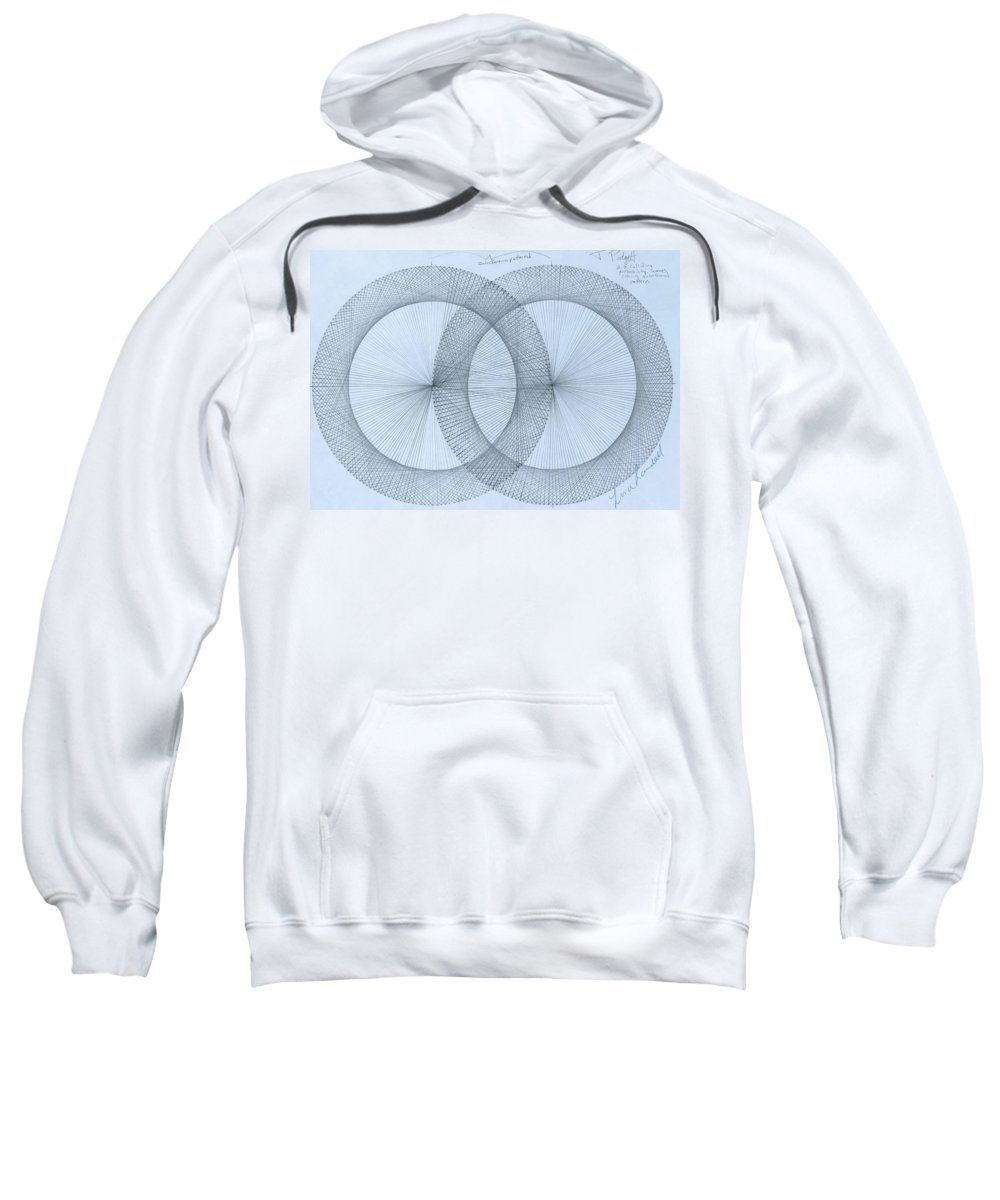 Magnet Sweatshirt featuring the drawing  Magnetism by Jason Padgett