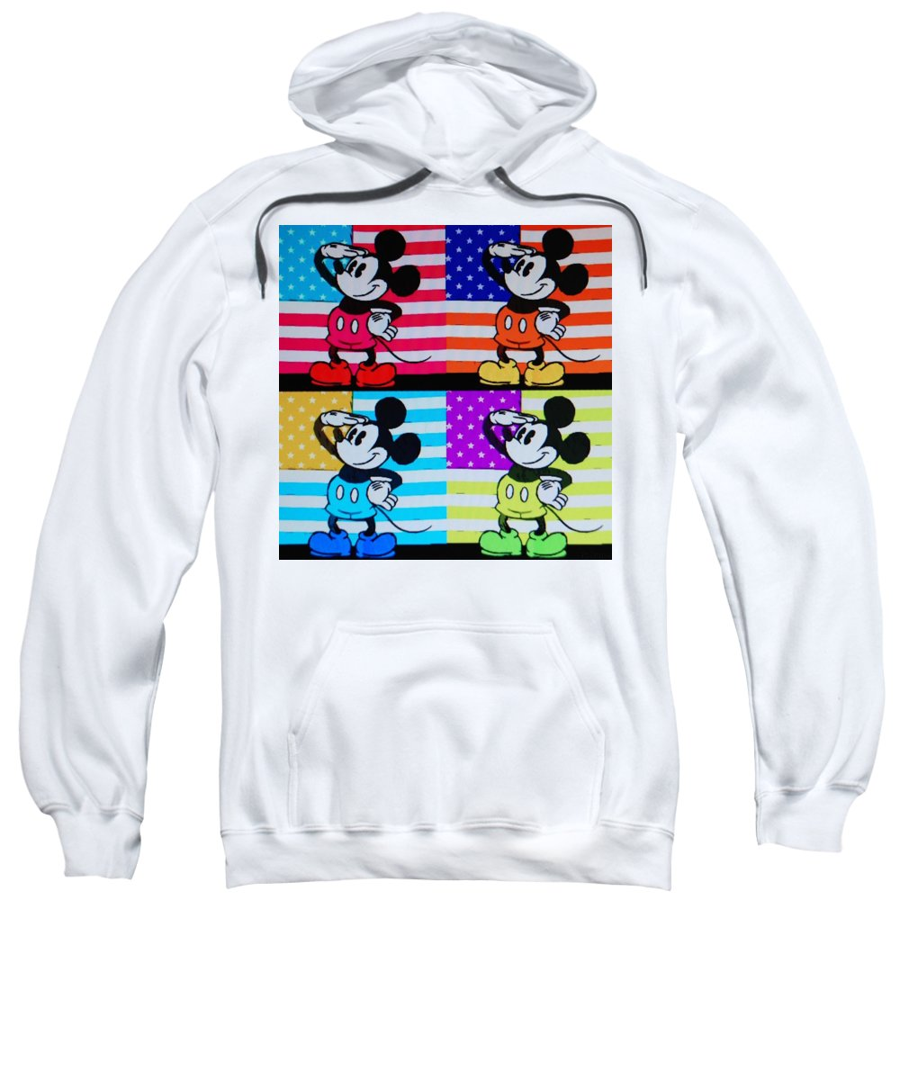Mickey Mouse Sweatshirt featuring the photograph American Mickey by Rob Hans