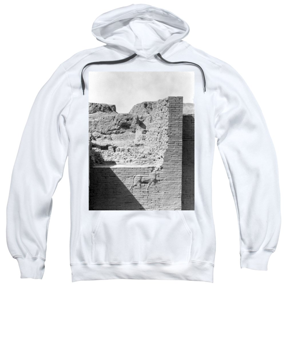 1932 Sweatshirt featuring the photograph Babylon Ishtar Gate by Granger