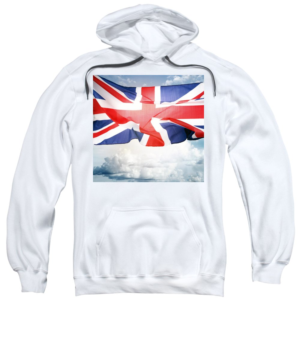 Flag Sweatshirt featuring the photograph British Flag 3 by Les Cunliffe