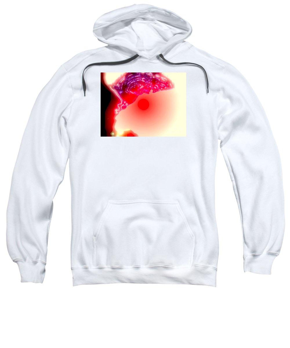 Abstract Canvas Prints Sweatshirt featuring the digital art Burning by Pauli Hyvonen