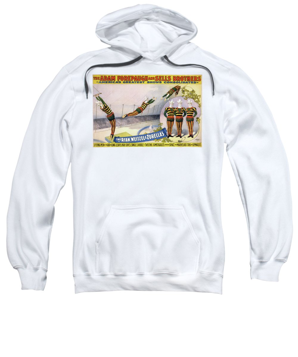 1898 Sweatshirt featuring the painting Circus Poster, C1898 by Granger