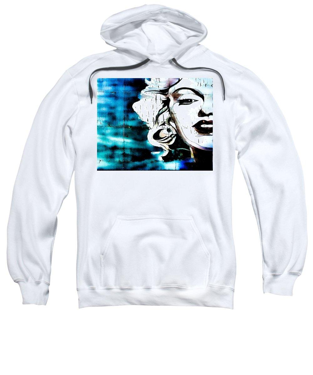Marilyn Monroe Sweatshirt featuring the photograph I'm Not Elvis by Digital Kulprits