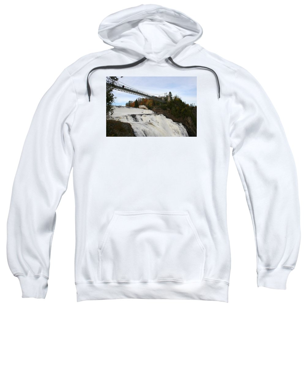 Waterfall Sweatshirt featuring the photograph Montmorency Waterfall Canada by Christiane Schulze Art And Photography
